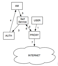 Simple Authenticated Internet Access Diagram