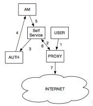 Simple Authenticated Internet Access Diagram