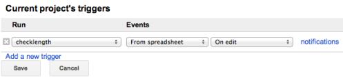 Google Docs Trigger