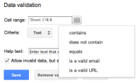 Google Documents Validation